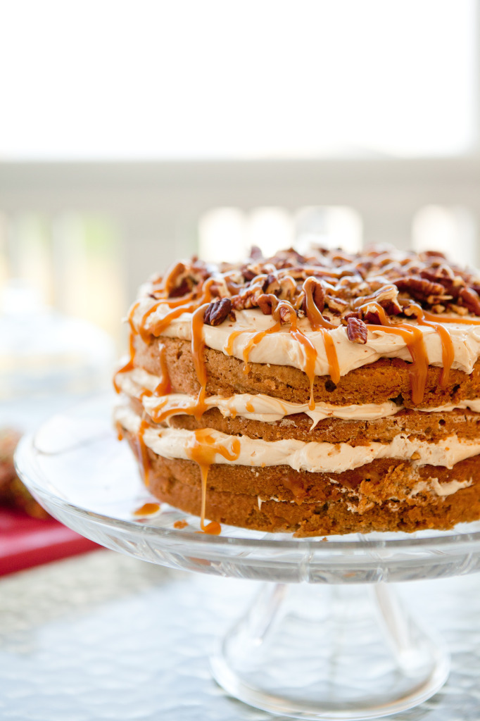 caramel apple mousse layer cake