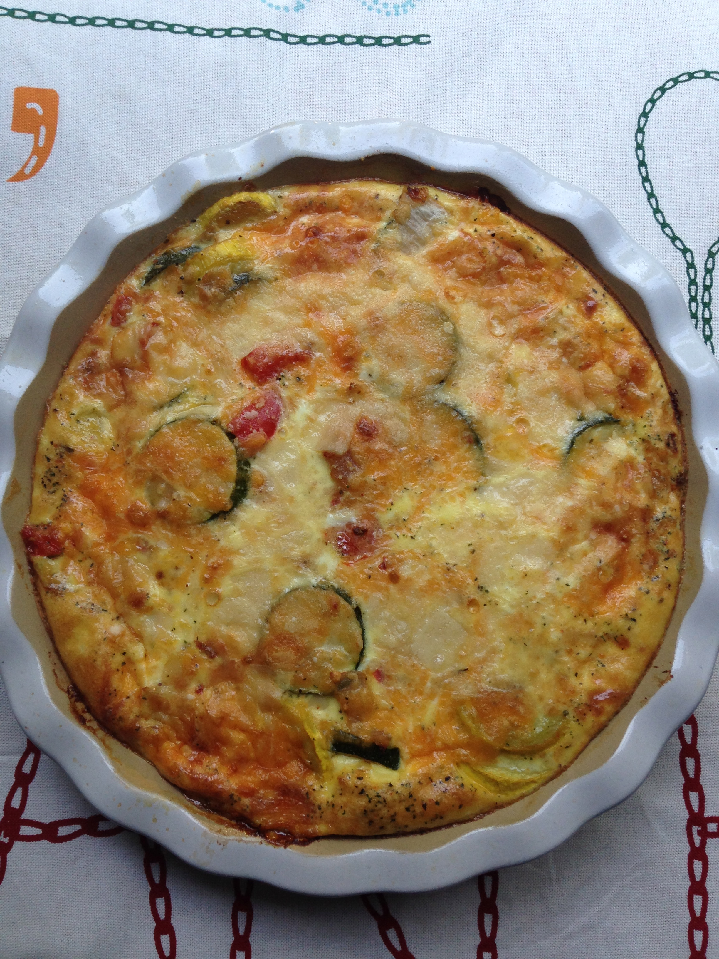 121 Calorie Crustless Veggie Quiche
