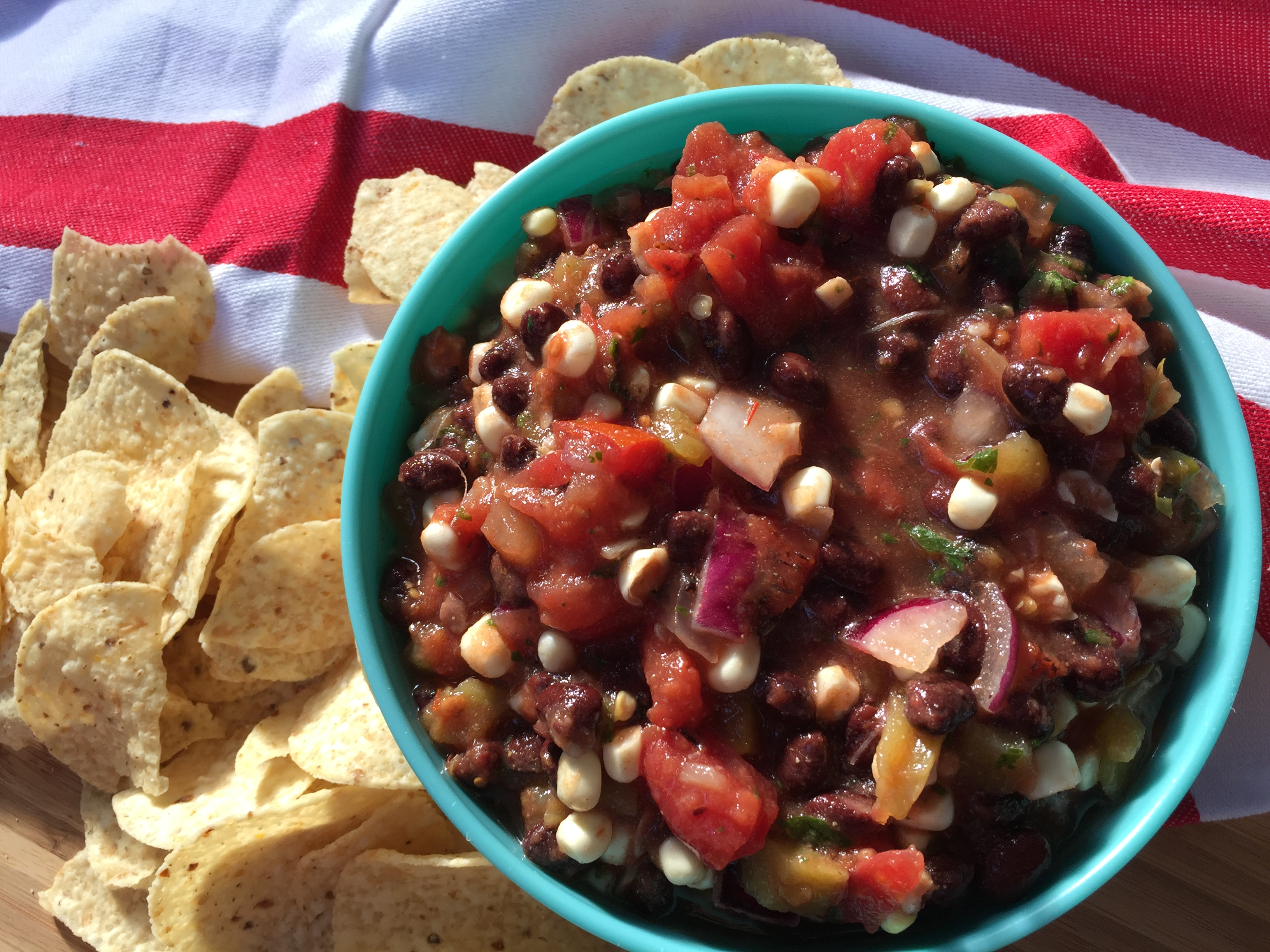 Easy Healthy Black Bean & Corn Salsa